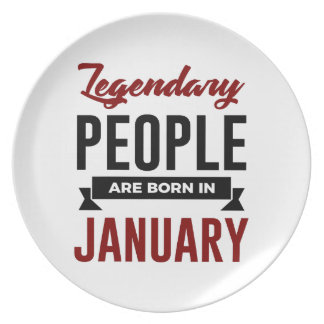 Legendary Born In January Babies Birthday Plate
