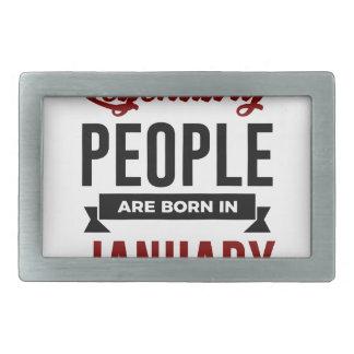 Legendary Born In January Babies Birthday Rectangular Belt Buckle
