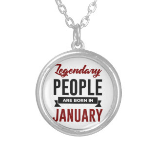 Legendary Born In January Babies Birthday Silver Plated Necklace