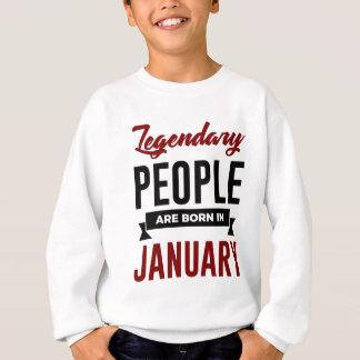 Legendary Born In January Babies Birthday Sweatshirt
