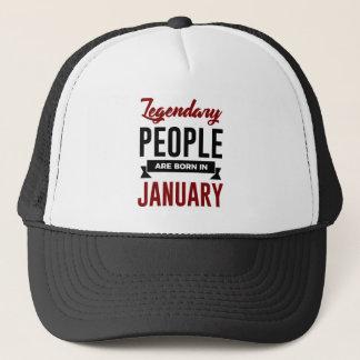 Legendary Born In January Babies Birthday Trucker Hat
