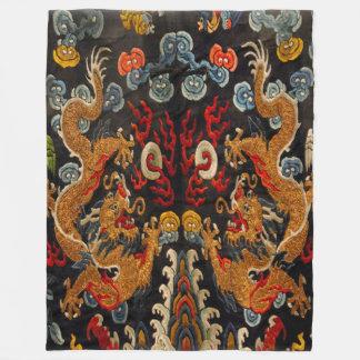 Legendary Ghost Samurai Dragon Master Fleece Blanket