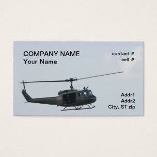 Legendary huey helicopter business card