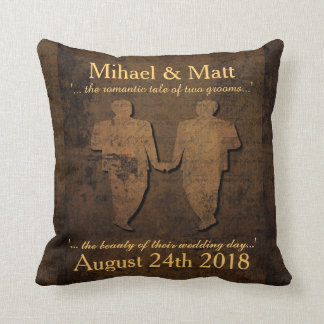 Legendary Love Grooms Pillow Gay Wedding Gift