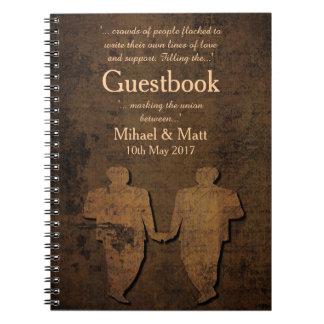 Legendary Love Guestbook for a Gay Wedding Spiral Notebook