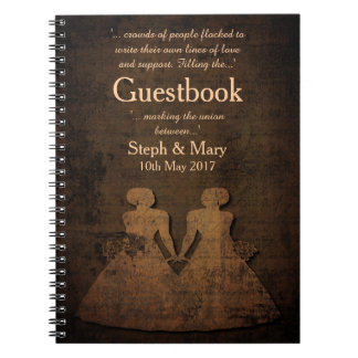 Legendary Love Story Lesbian Wedding Guestbook Notebooks