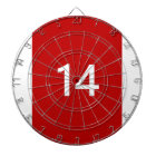 Legendary No. 14 in red and white Dartboard