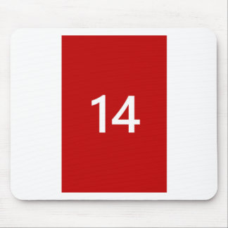 Legendary No. 14 in red and white Mouse Pad