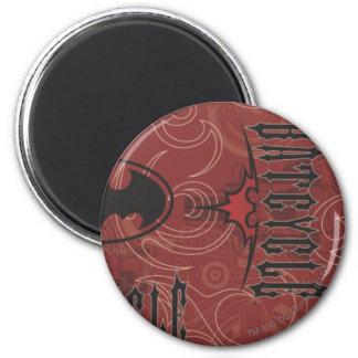 Légendes urbaines de Batman - motif de Batcycle ro Magnet Rond 8 Cm