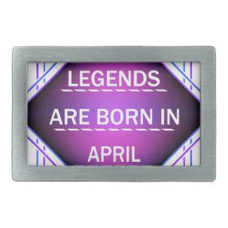 Legends are born in April Rectangular Belt Buckle