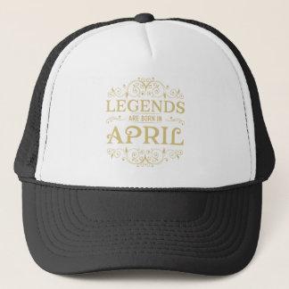 legends are born in April Trucker Hat