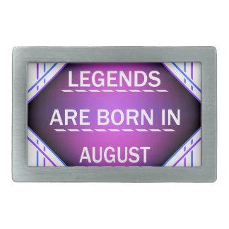 Legends are born in August Rectangular Belt Buckle