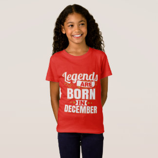 Legends are Born In December Female Kids T-Shirt