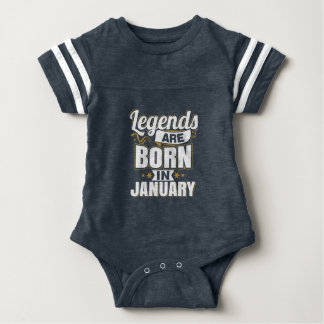 Legends are Born In January Baby Bodysuit