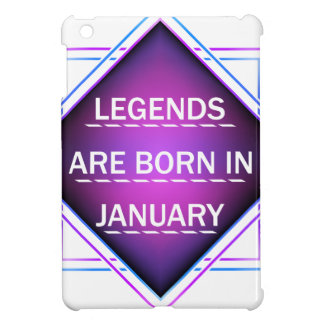 Legends are born in january cover for the iPad mini