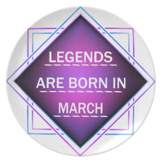 Legends are born in March Plate