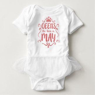 legends are born in MAY Baby Bodysuit