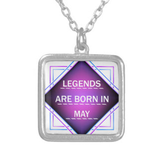 Legends are born in May Silver Plated Necklace