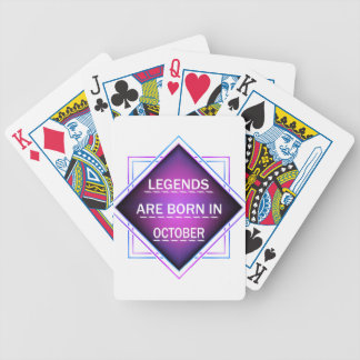 Legends are born in October Bicycle Playing Cards
