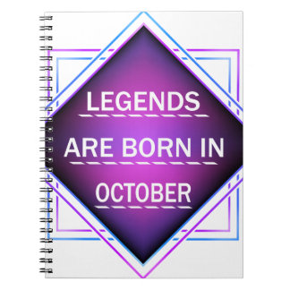 Legends are born in October Spiral Notebook