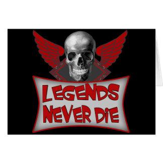 Legends Never Die Biker T shirts Gifts Card