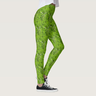 """Legging with """"Green Leaf River"""" photograph"""