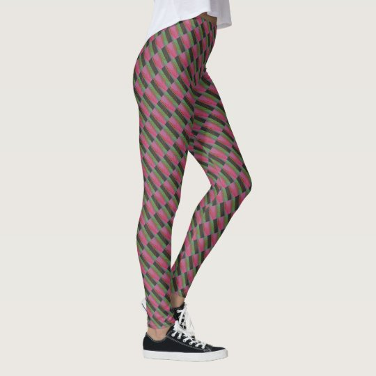"Legging with ""Zig Zag Stripes"" design"