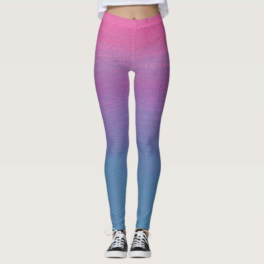 Leggings/3 Tones Blue, Purple and Pink Leggings