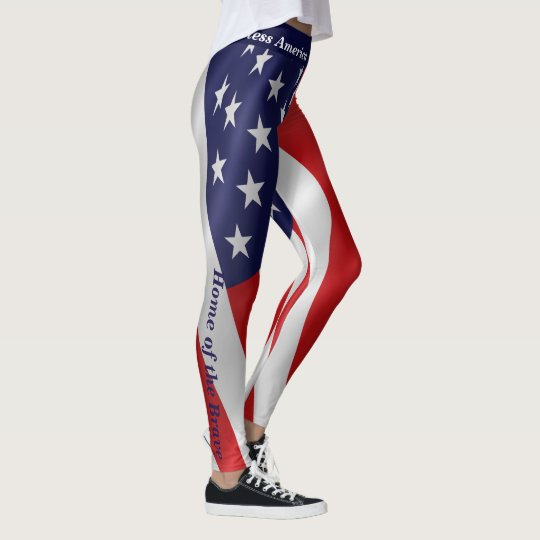 Leggings 4th JULY American Flag USA Parade