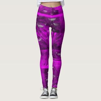 leggings- Abstract design in purple Leggings