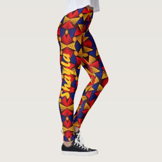 LEGGINGS African Tribal CUSTOM Name Yoga Pants