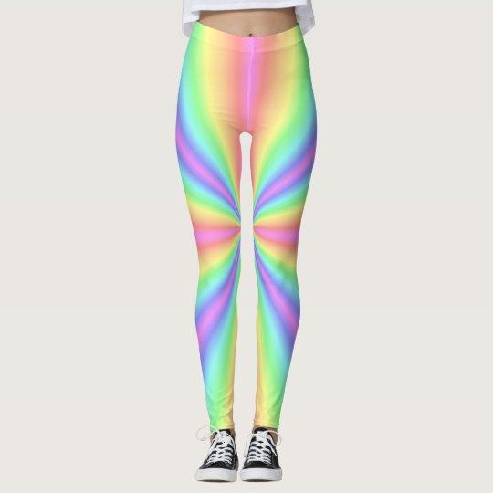 Leggings - All Over - Groovy Radiant Rainbow