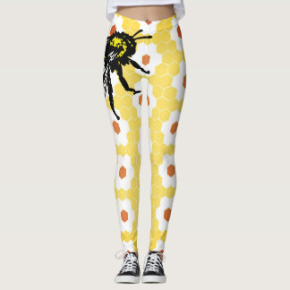 LEGGINGS BEE AND HONEYCOMB