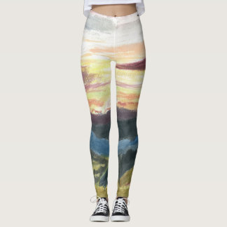 "Leggings, ""Bell Springs Sunrise"" by ALarsenArtist Leggings"