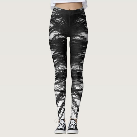 Leggings - black & white