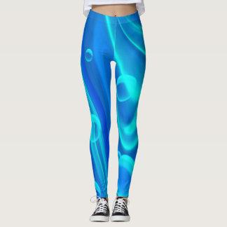 Leggings-Blue, bright bubbles/Abstract Art Leggings