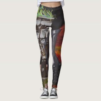 "Leggings ""Candle & Plant Still Life"" ALarsenArtist"