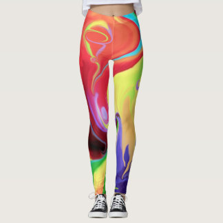 Leggings- designed, Abstract Art/ Happy colors Leggings