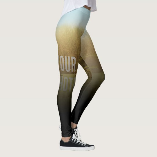 Leggings Fade To Black Fill Template