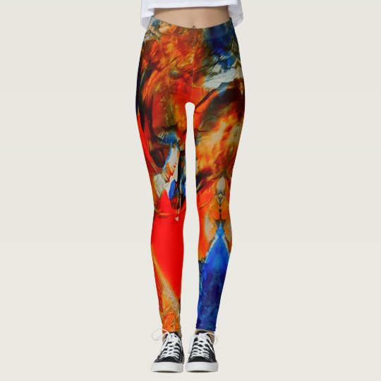 Leggings Flashy empty, blue, orange, colorful