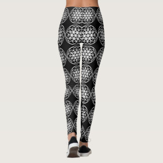 Leggings Flower of Life in White