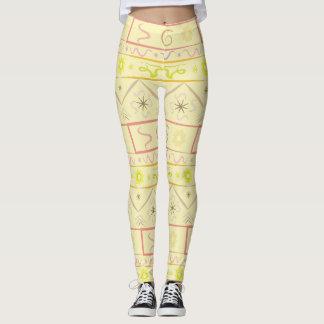 Leggings gentle sun with ethnic pattern