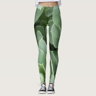 Leggings- Green Blooms Leggings