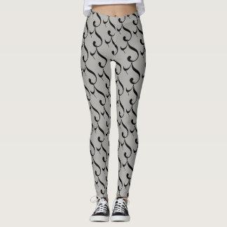 Leggings, grey, black, spandex leggings