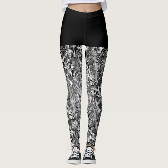 "Leggings, ""Grey Rose"" by Mysistergirl Leggings"