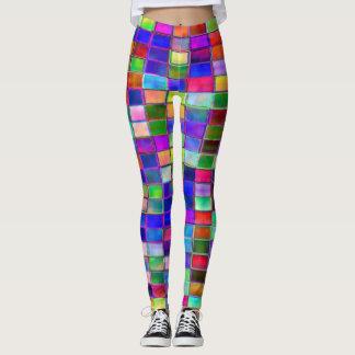 Leggings: Jaded Tile Effect Leggings