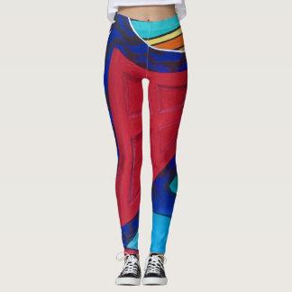 Leggings newest original colorful art by tquinn