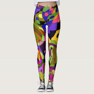 Leggings Pastel Harlequin Multi Color Custom