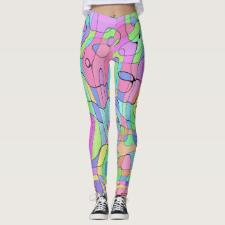 Leggings Pastel Harlequin Pattern