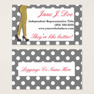 Leggings Sales, Leopard Print Business Card